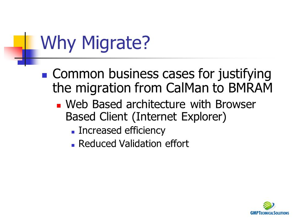 Why Migrate.