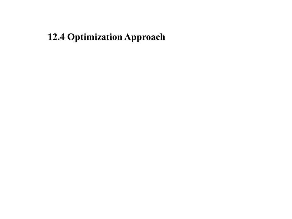 12.4 Optimization Approach