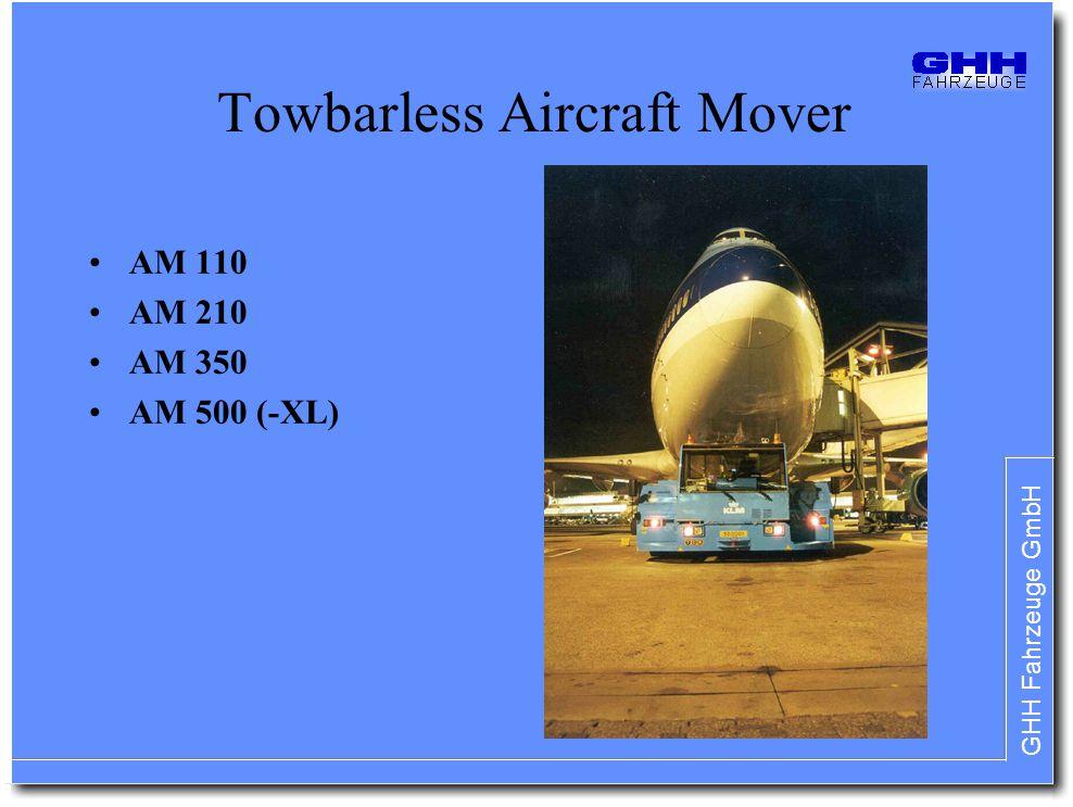 GHH Fahrzeuge GmbH Towbarless Aircraft Mover AM 110 AM 210 AM 350 AM 500 (-XL)
