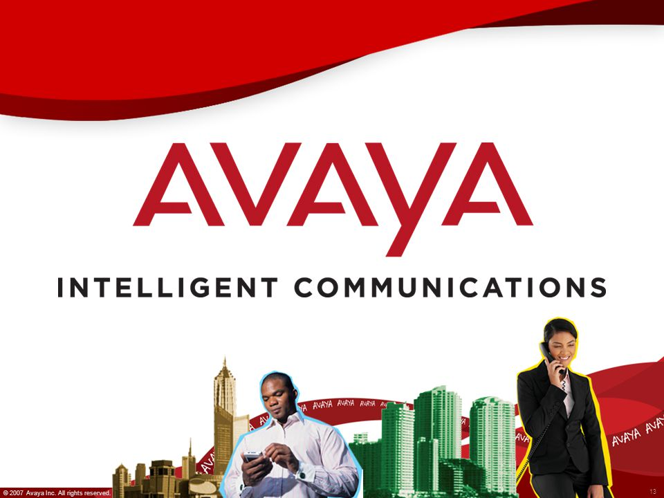 © 2007 Avaya Inc. All rights reserved. 13 © 2007 Avaya Inc. All rights reserved.