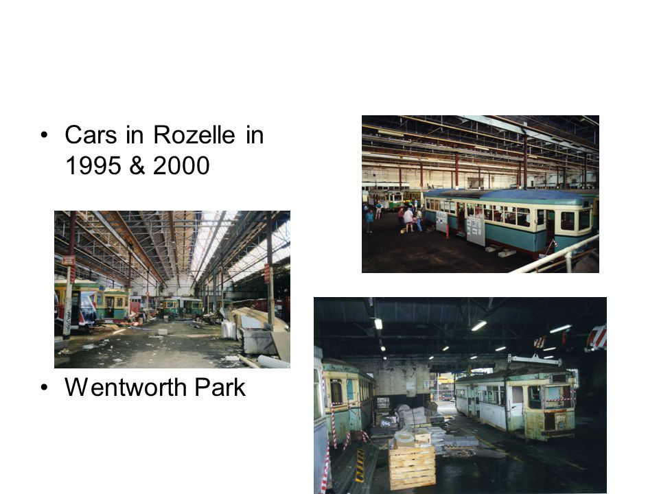 Cars in Rozelle in 1995 & 2000 Wentworth Park