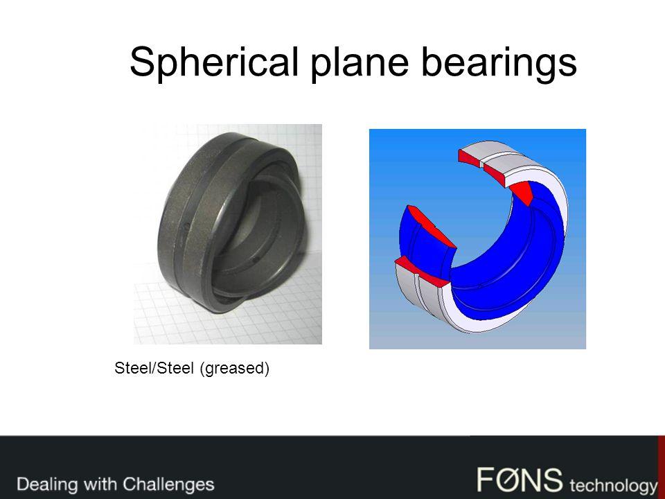 Spherical plane bearings Steel/Steel (greased)