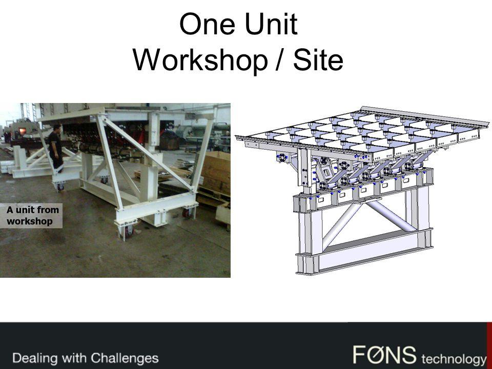 One Unit Workshop / Site