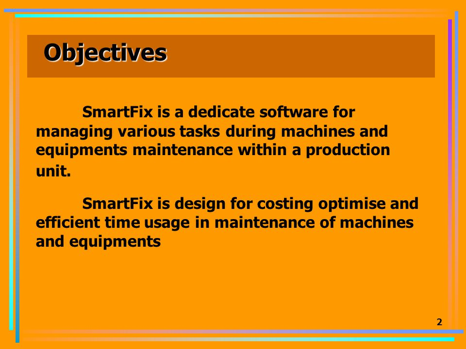 1 SmartFix Machines&Equipments Maintenance Software Design by I-TEAM