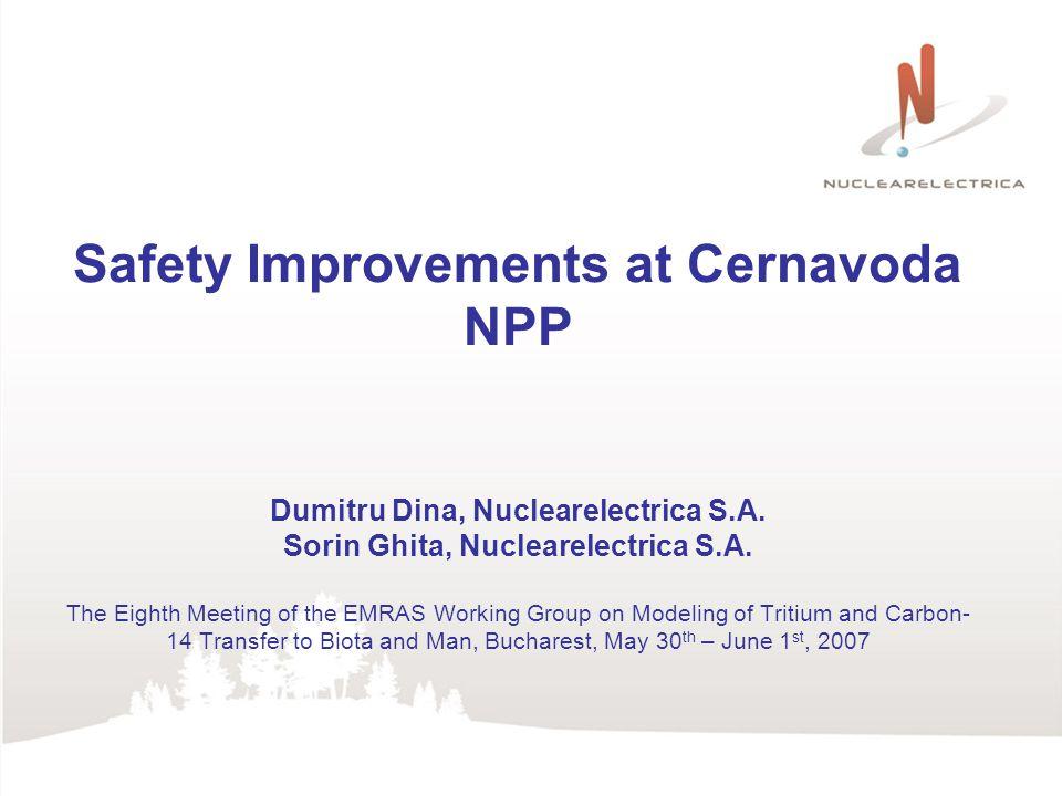 Safety Improvements at Cernavoda NPP Dumitru Dina, Nuclearelectrica S.A.