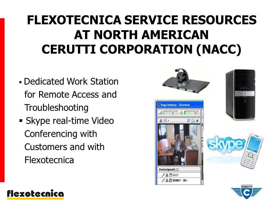 FLEXOTECNICA SERVICE TEAM AT NORTH AMERICAN CERUTTI CORPORATION (NACC)
