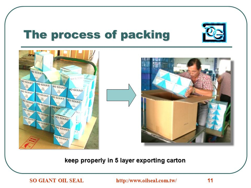 http:/www.oilseal.com.tw/SO GIANT OIL SEAL11 The process of packing keep properly in 5 layer exporting carton