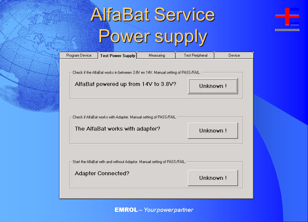EMROL – Your power partner AlfaBat Service Programming