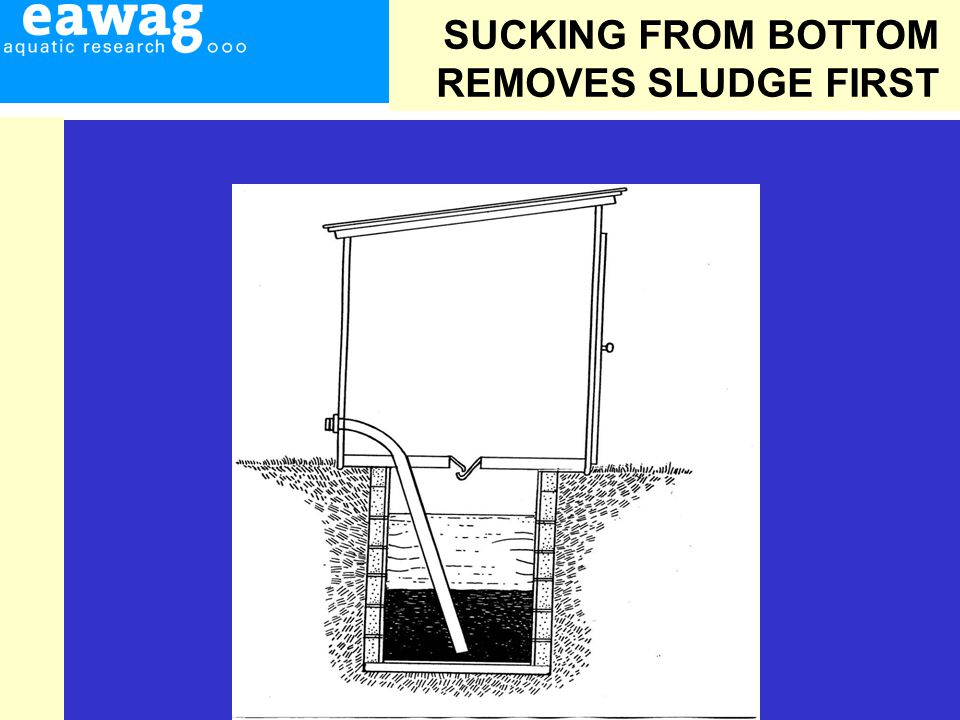 SUCKING FROM BOTTOM REMOVES SLUDGE FIRST