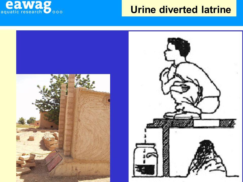 Urine diverted latrine