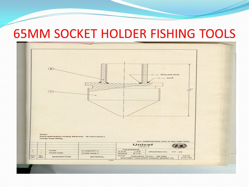 65MM SOCKET HOLDER FISHING TOOLS