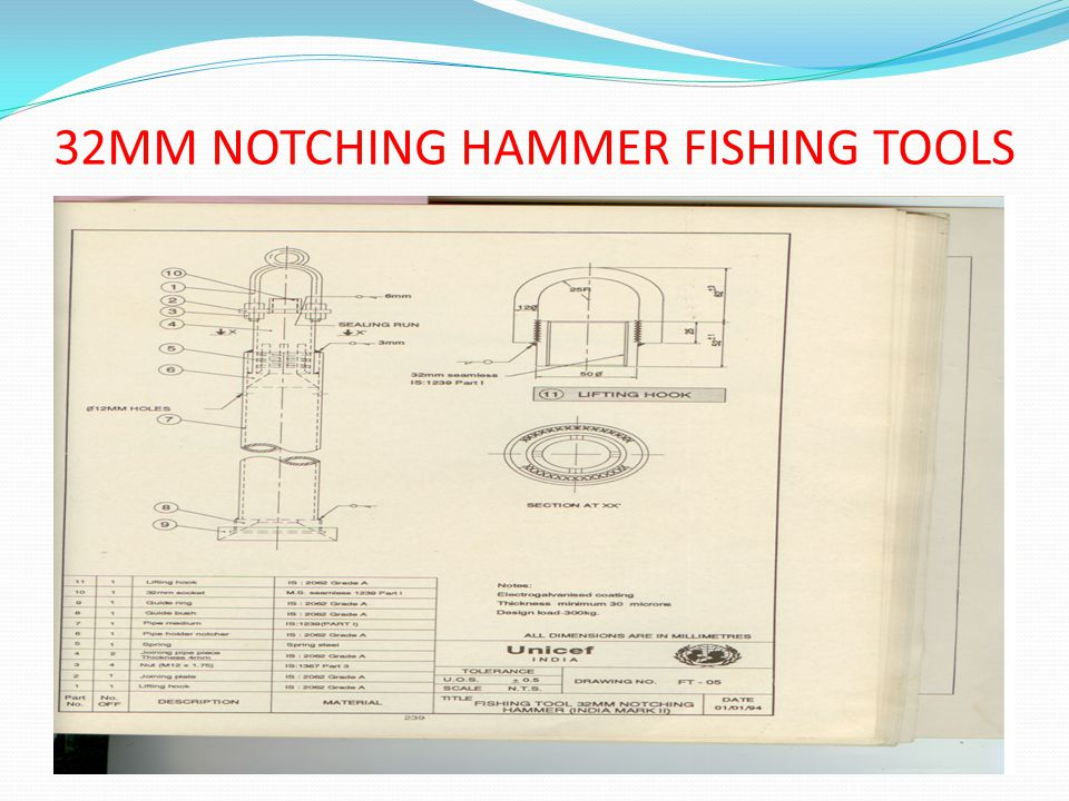 32MM NOTCHING HAMMER FISHING TOOLS