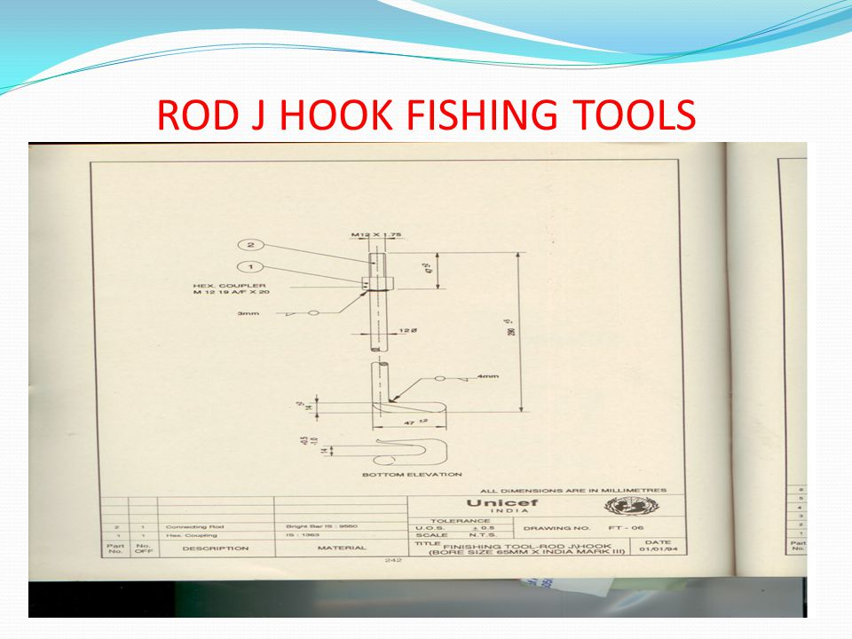 ROD J HOOK FISHING TOOLS