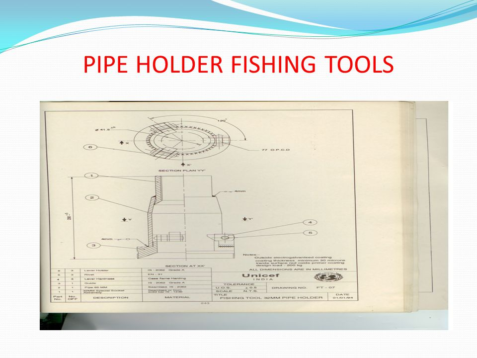 PIPE HOLDER FISHING TOOLS