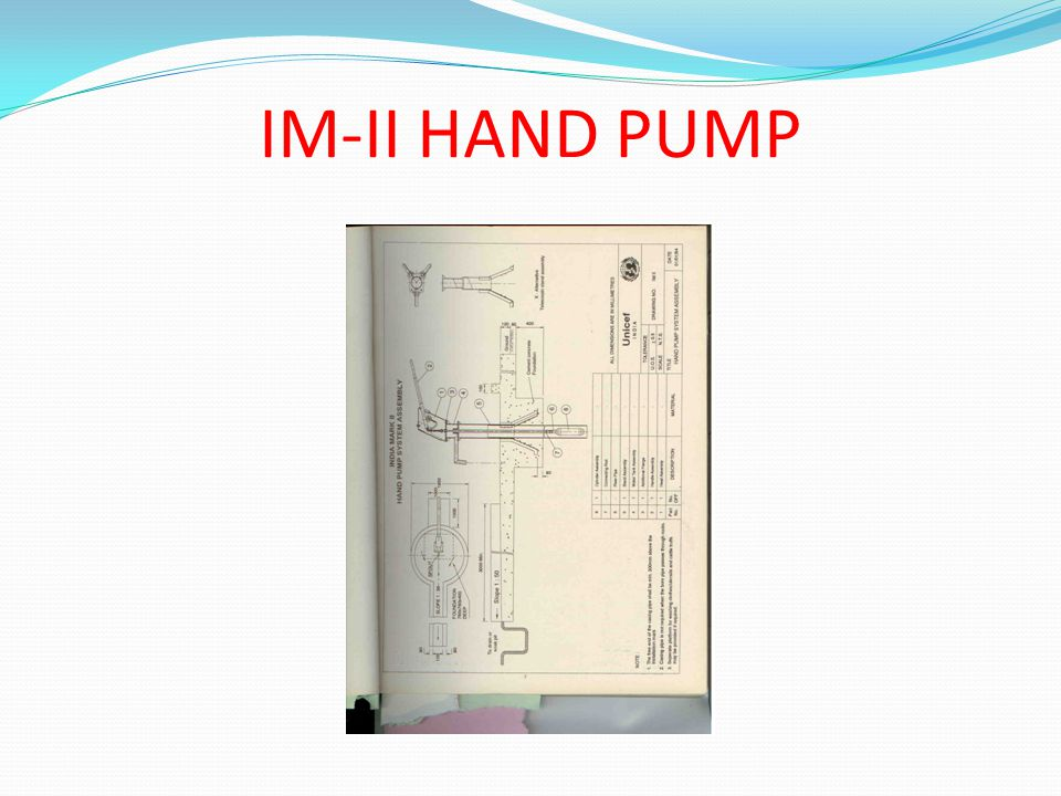 IM-II HAND PUMP