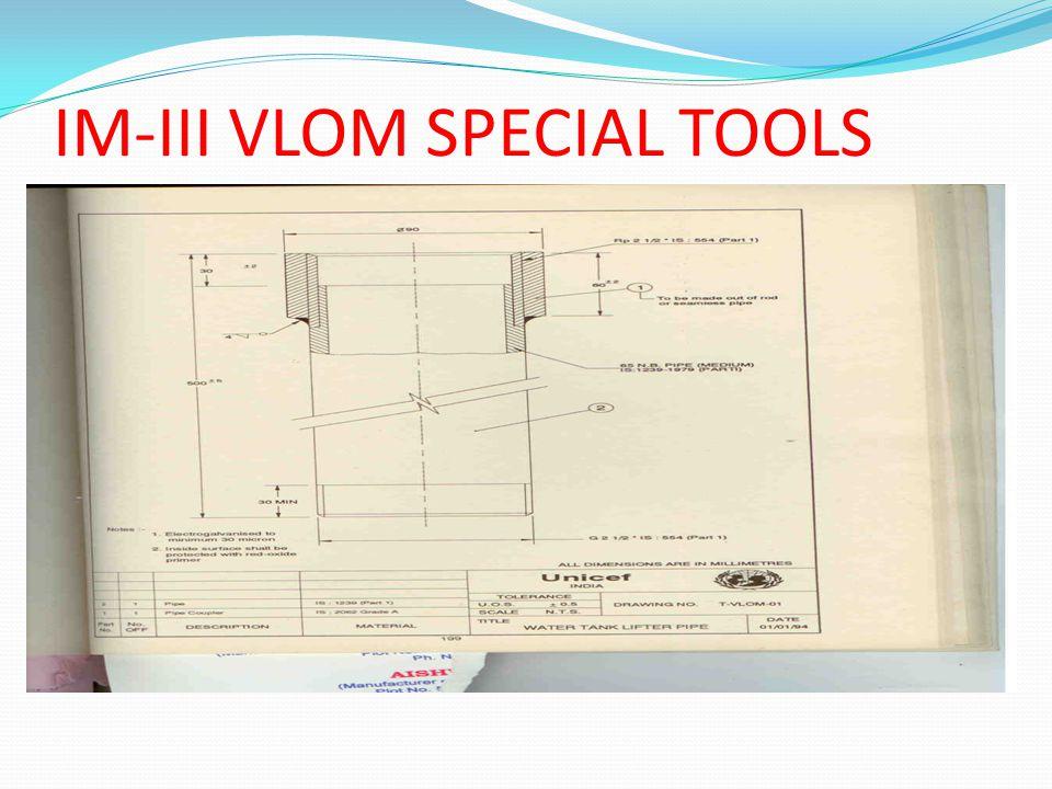 IM-III VLOM SPECIAL TOOLS