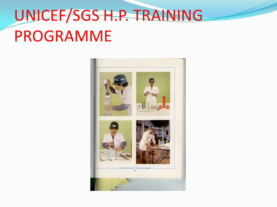 UNICEF/SGS H.P. TRAINING PROGRAMME