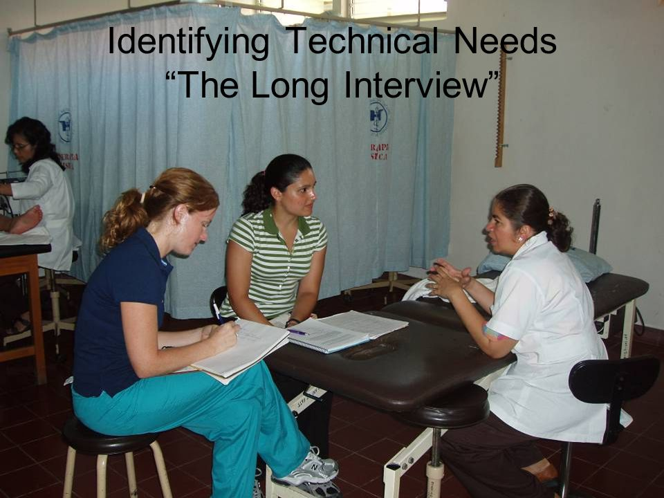 Identifying Technical Needs The Long Interview