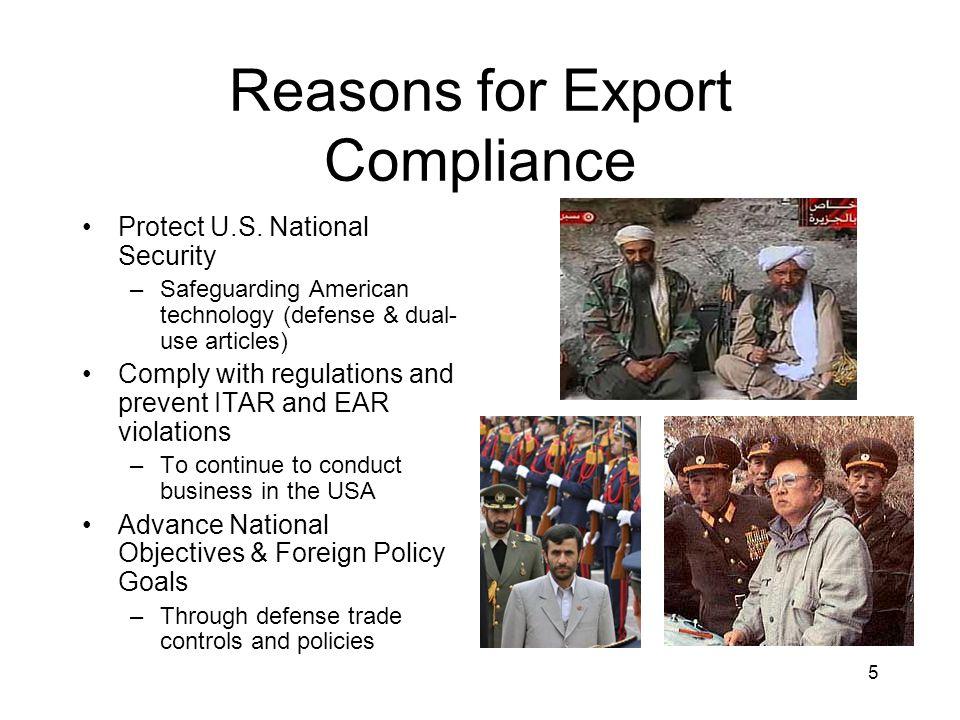 6 Export Control Why U.S.