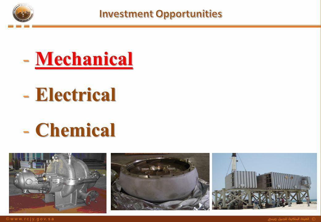 -Mechanical -Electrical -Chemical