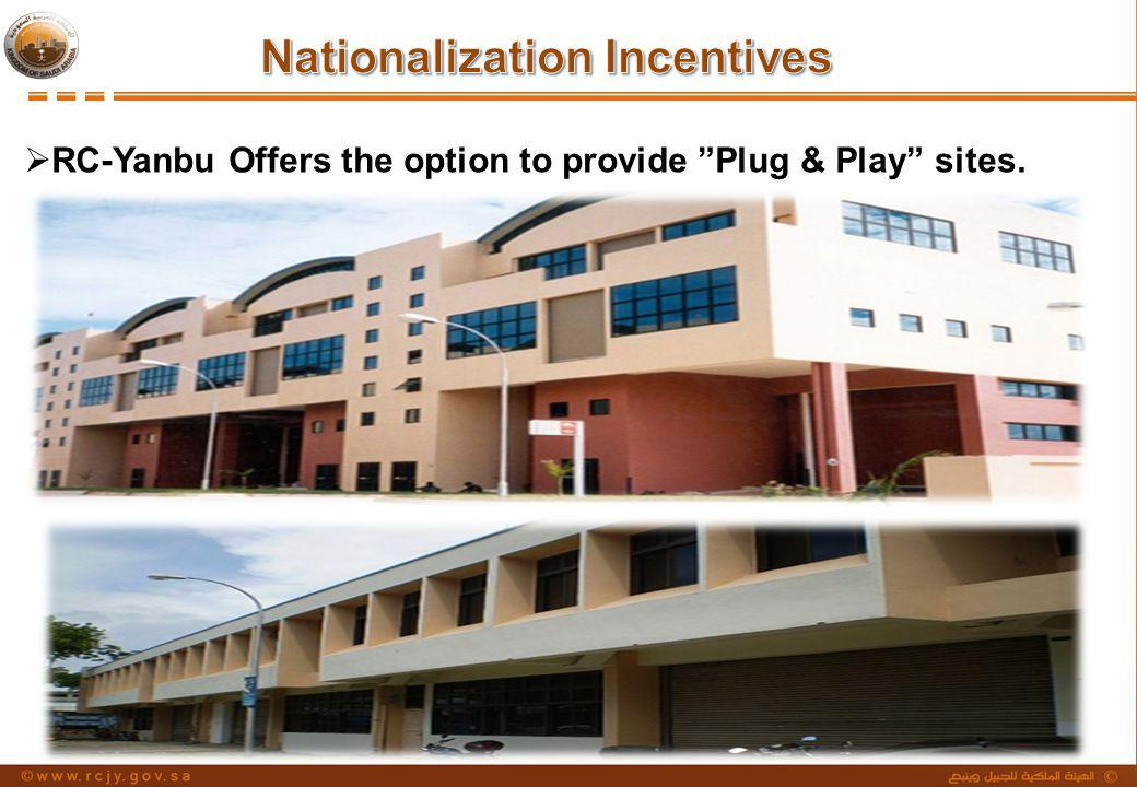 RC-Yanbu Offers the option to provide Plug & Play sites.