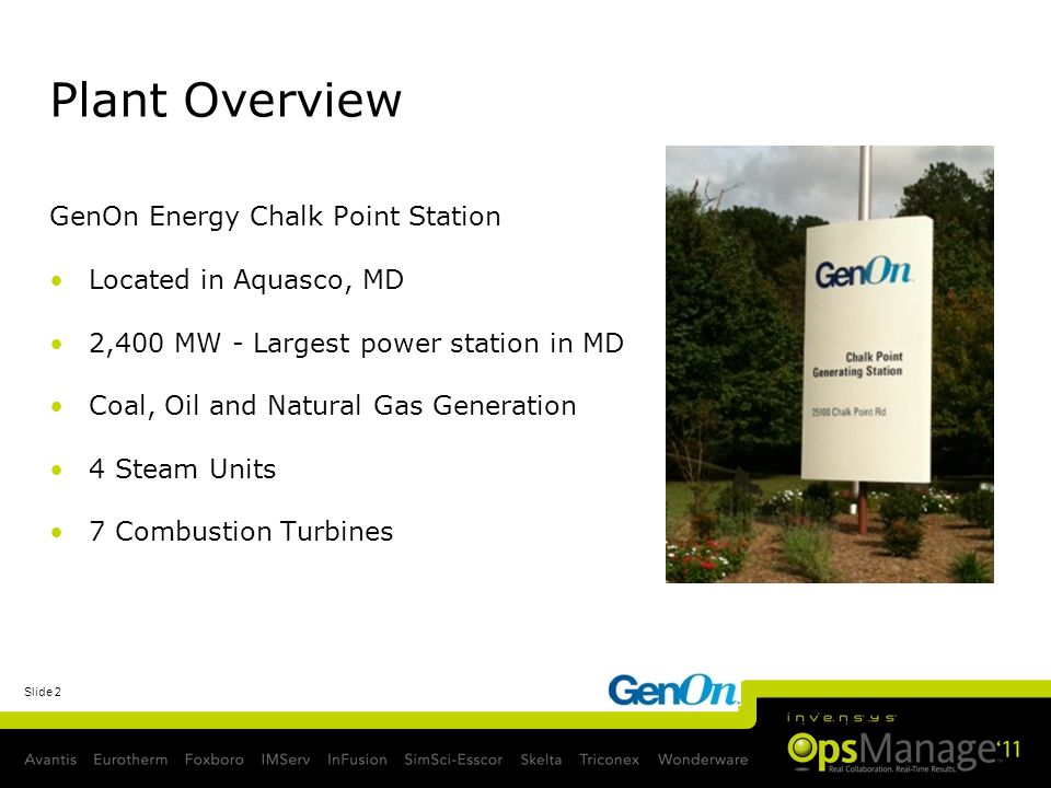 Slide 3 GenOn Energy Chalk Point Station