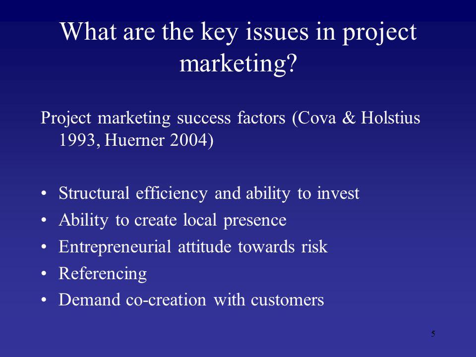6 Project marketing vs.
