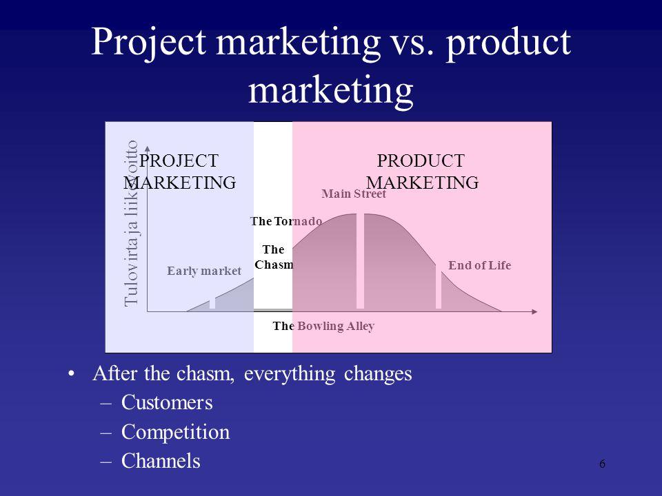 7 PROJECT VS. PRODUCT BUSINESS PROJECT BUSINESS PRODUCT BUSINESS NUMEROUS IT START-UPS
