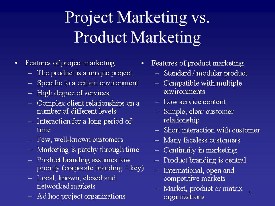 10 Project Marketing vs.