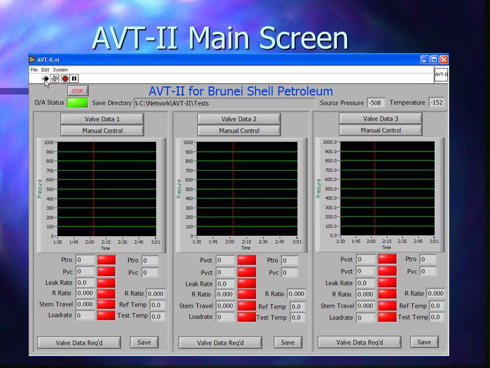 AVT-II Main Screen