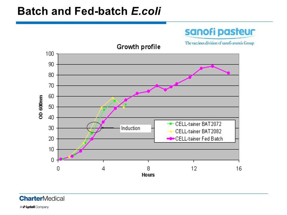 Batch and Fed-batch E.coli