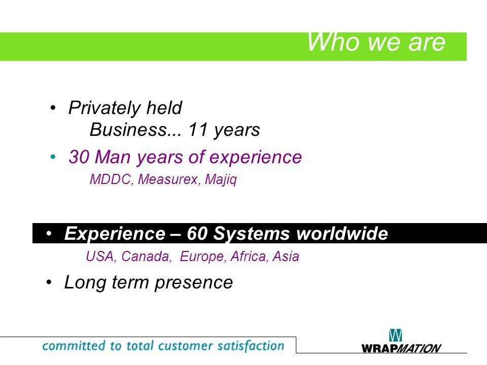 Product Presentation TRAQ Manager Demo Q & A Agenda