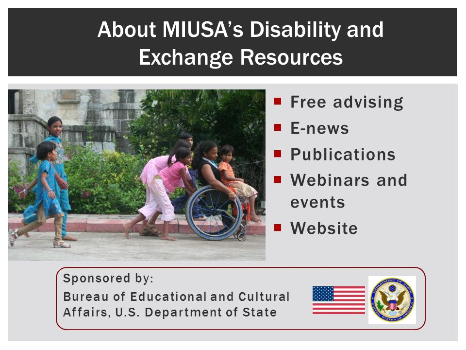 Free advising E-news Publications Webinars and events Website Sponsored by: Bureau of Educational and Cultural Affairs, U.S. Department of State About