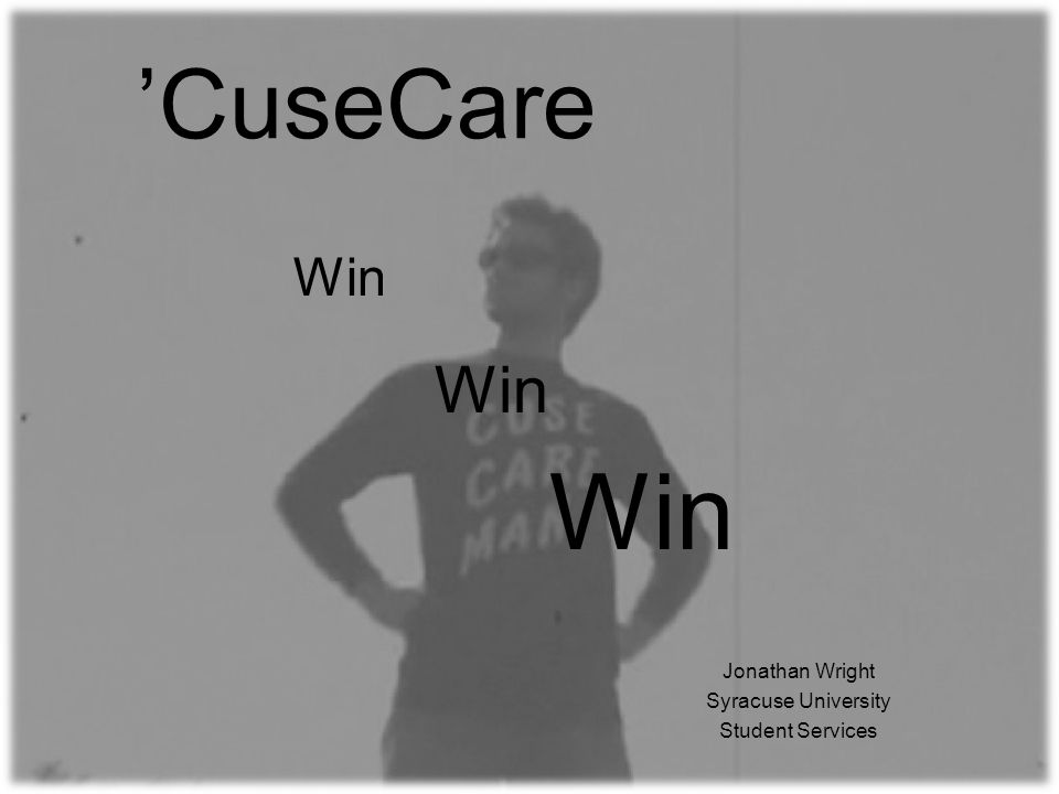 CuseCare Jonathan Wright Syracuse University Student Services Win