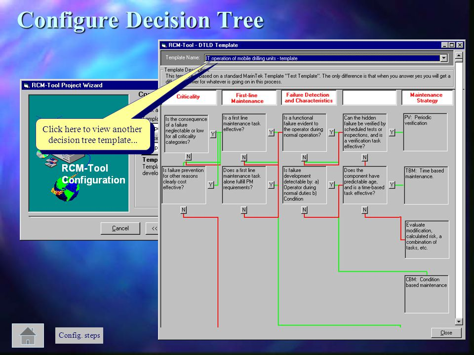 Click here to view another decision tree template... Click here to view another decision tree template... Config. steps Configure Decision Tree