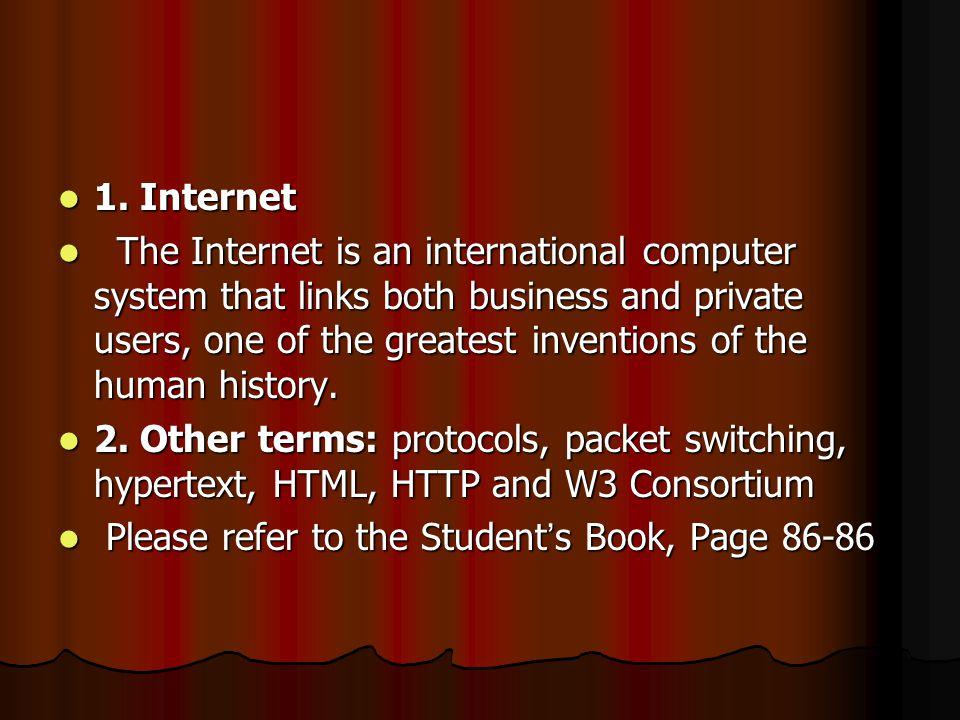 1. Internet 1.