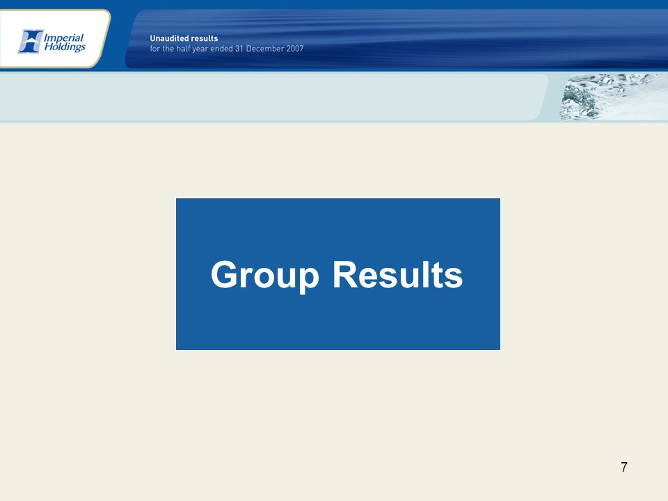 7 Group Results