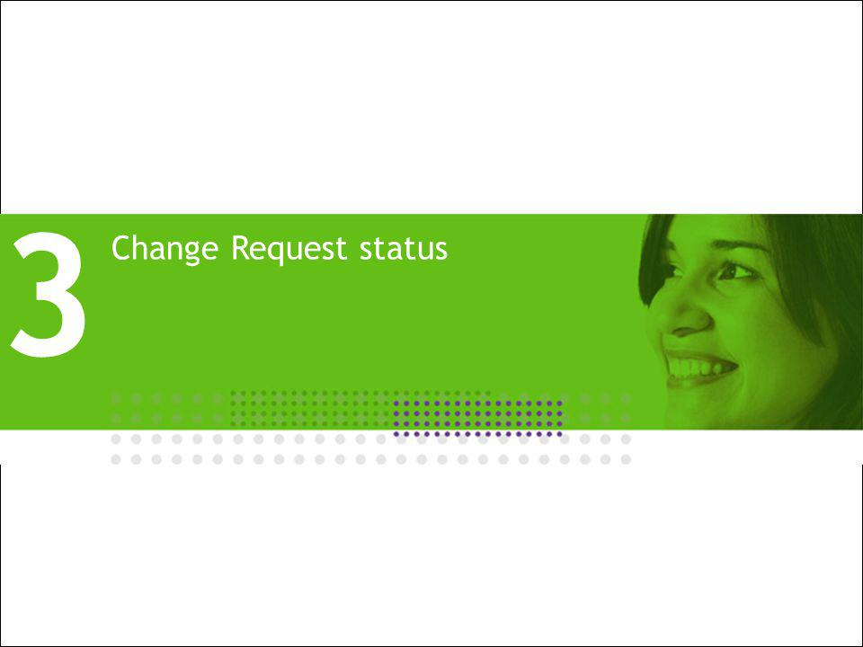 All Rights Reserved © Alcatel-Lucent 2009, XXXXX 10 | Presentation Title | Month 2009 Change Request status 3