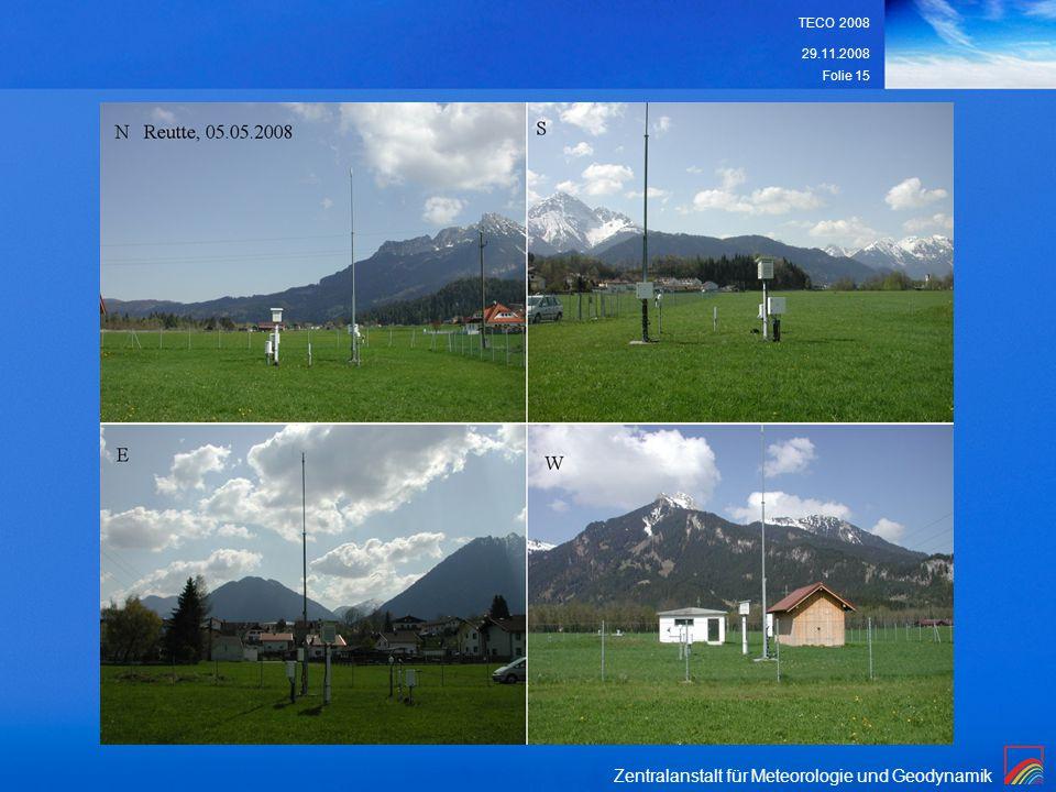 Zentralanstalt für Meteorologie und Geodynamik 29.11.2008 TECO 2008 Folie 15