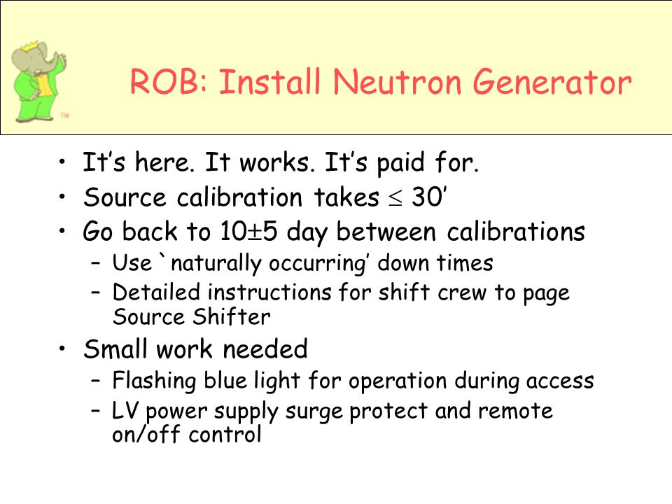 ROB: Install Neutron Generator Its here. It works.