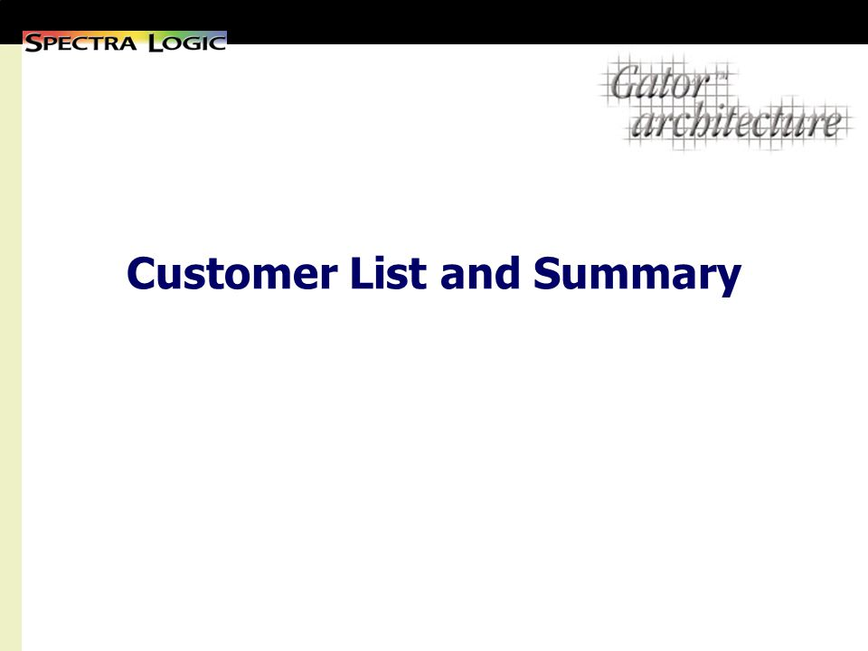 Customer List and Summary