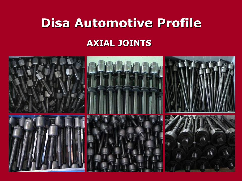 Disa Automotive Profile AXIAL JOINTS