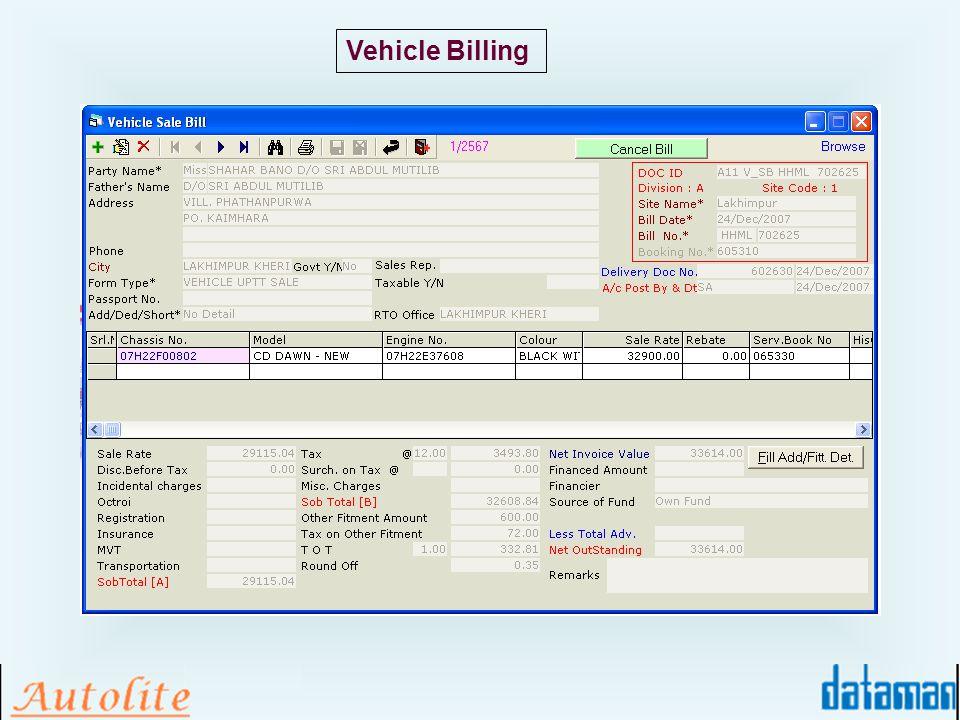 Vehicle Billing