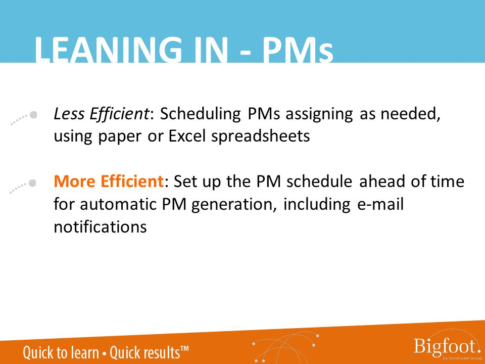 LEANING IN - PMs