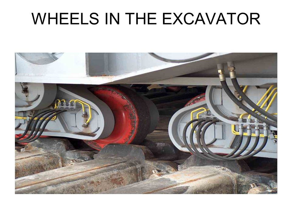 WHEELS IN THE EXCAVATOR