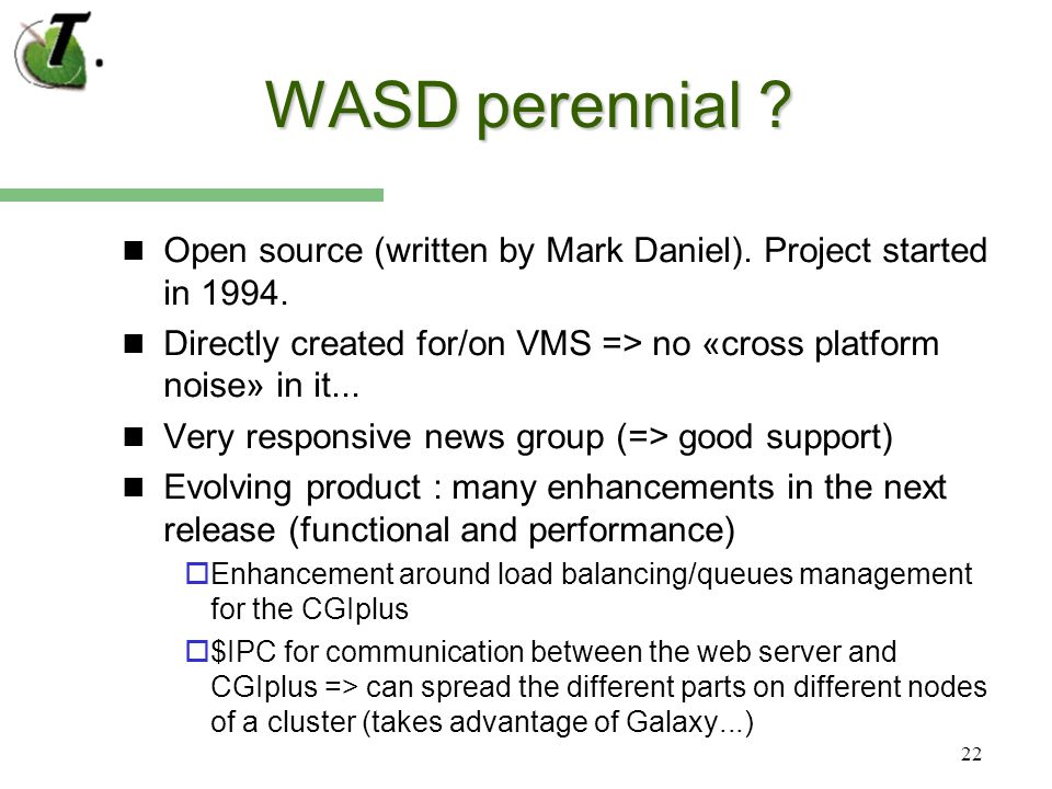 22 WASD perennial . Open source (written by Mark Daniel).