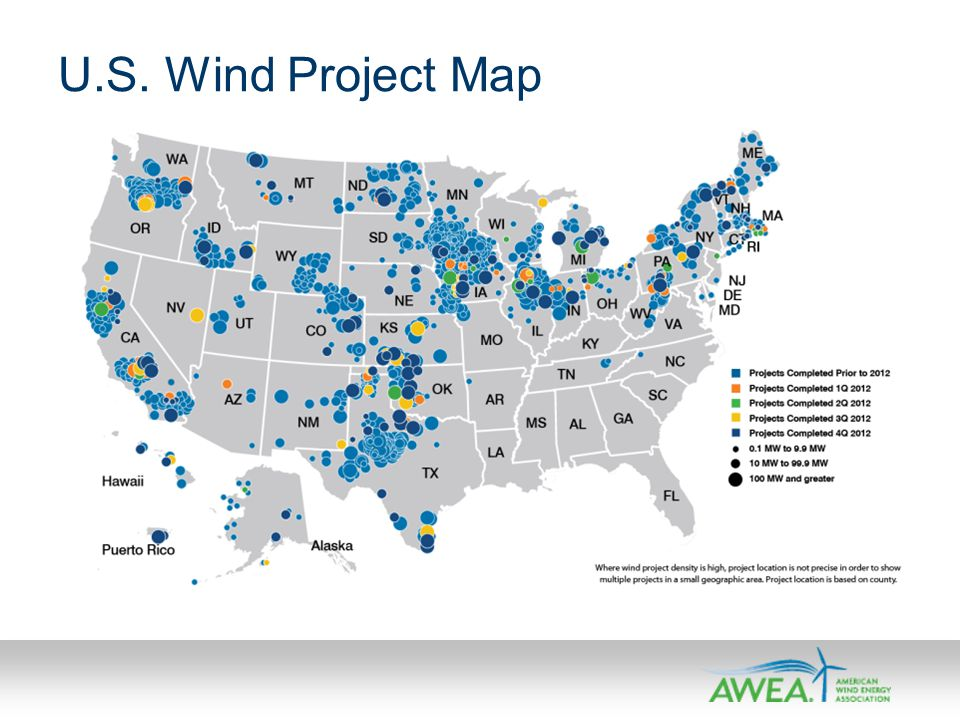 U.S. Wind Project Map
