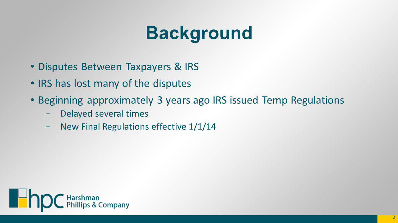 Depreciation Errors and TPR to Check for that Need Correction Bonus depreciation (if taken on some, but not on all applicable assets – 3115; if not taken but now want to take = need letter ruling to change; Improper lives for assets (need 3115) Depreciation taken on assets now owned or owned (need 3115) 14
