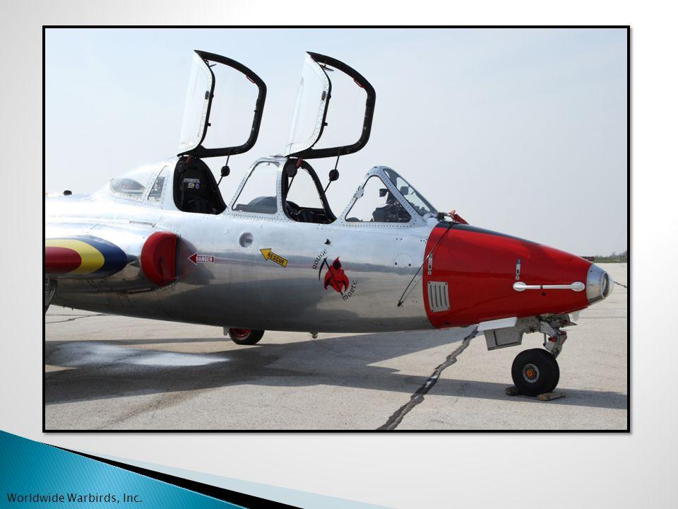ENGINES Turbomeca Marbore II 1800 TBO Left engine: 722 SMOH Right engine: 1458 SMOH Worldwide Warbirds, Inc.