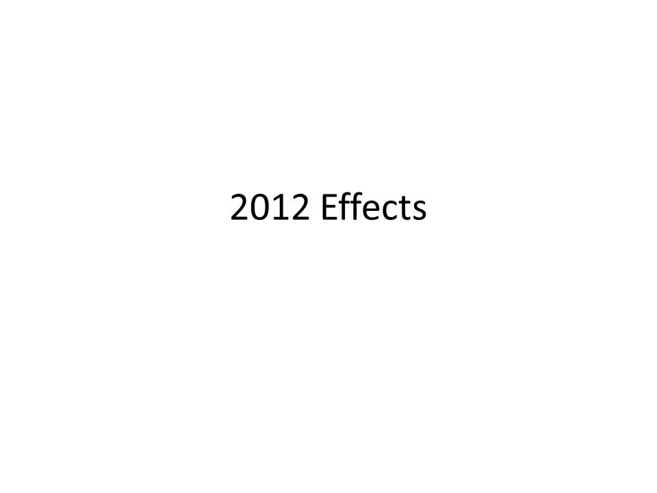 2012 Effects